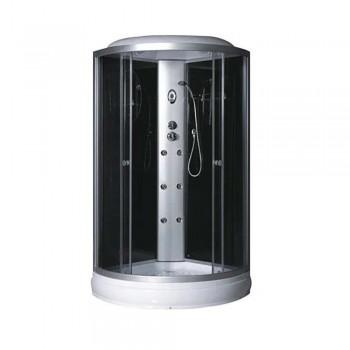 Гидробокс FABIO рама сатин стекло серое без КПУ 1000*1000*150*2150мм