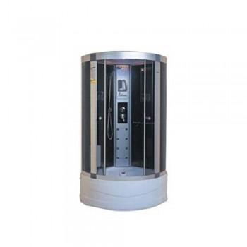 Гидробокс FABIO рама сатин стекло серое КПУ с радио 1000*1000*400*2150мм