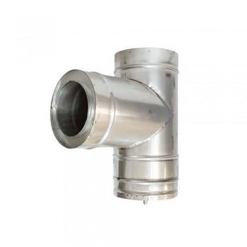 Тройник с конденсатовідводом 150/210 1,0 мм Н/Н жар изол (201)