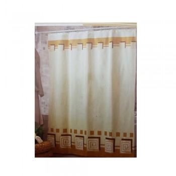 Шторка на ванну Миранда коричневая,AM 06