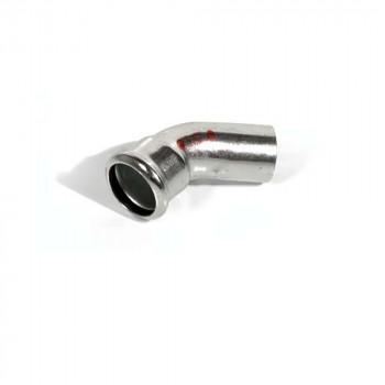 381/451 Колено стальное Ø76 45° ВЗ оцинкованное (отопление) STEELPRES® RM