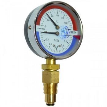 Термоманометр ДМТ 05080 - 1,6 МПа - 0-120 °С - 2,5