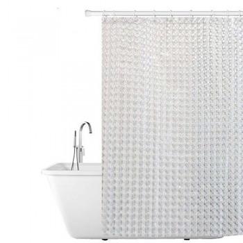 Шторка на ванну 3D белые 3D-W