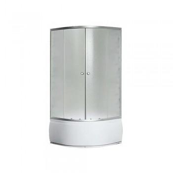 Гидробокс SANSA рама сатин стекло серое без форсунок 90*90*(40)*215
