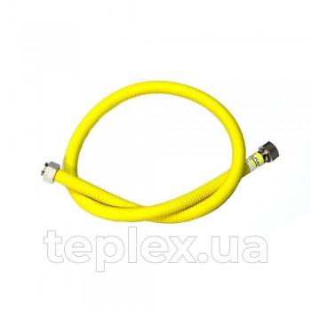 Шланг газ нерж. Eco-Flex 12мм 1/2*1/2 100см.гг (желтый)