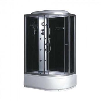 Гидробокс FABIO рама сатин стекло серое 1200*800*400*2150мм левый
