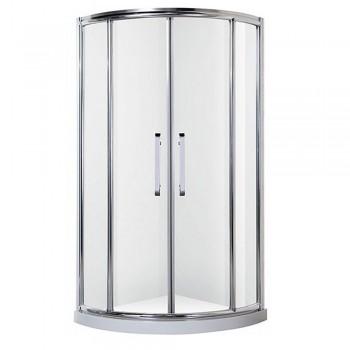 Душ-кабина Rhein рама хром стекло прозрачное 6мм 900*900*(150)*2120мм