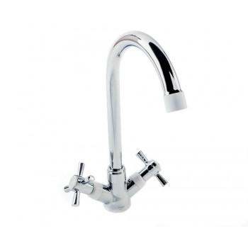 Двухвентильный кухонный смеситель POTATO P4954-7