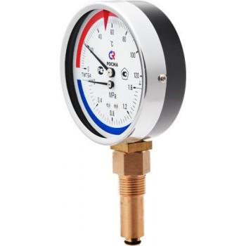Термоманометр ICMA вертикальный 10 bar
