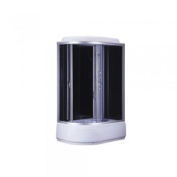 Гидробокс BRAVO стекло серое/проф,черный,верх+смешаных параз 120*80*215 H120BR